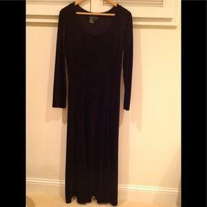 Carole Little Black Velvet Dress